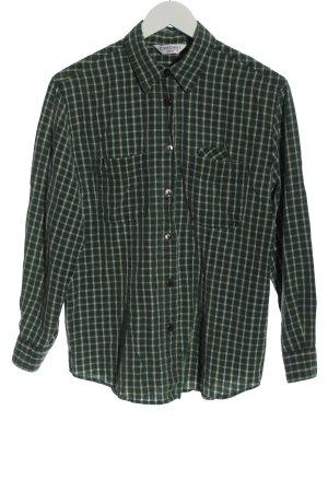Seidensticker Langarmhemd grün-weiß Karomuster Casual-Look