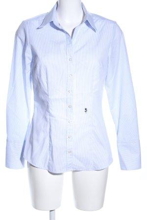 Seidensticker Langarmhemd weiß-blau Streifenmuster Business-Look