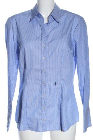 Seidensticker Langarmhemd weiß-blau Streifenmuster Casual-Look