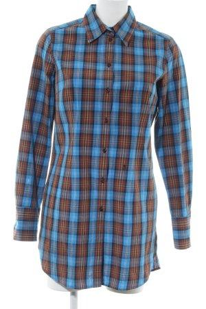 Seidensticker Langarmhemd blau-braun Karomuster Casual-Look