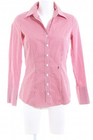 Seidensticker Langarmhemd pink-weiß Allover-Druck Casual-Look
