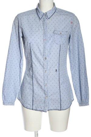 Seidensticker Langarmhemd blau-weiß Streifenmuster Casual-Look