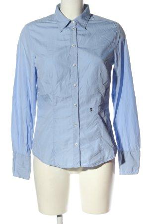 Seidensticker Langarmhemd blau Blumenmuster Casual-Look
