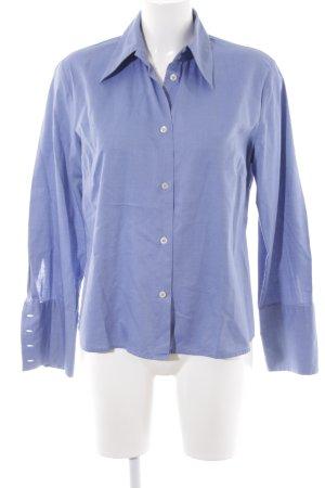Seidensticker Camisa de manga larga azul-azul celeste estampado a cuadros