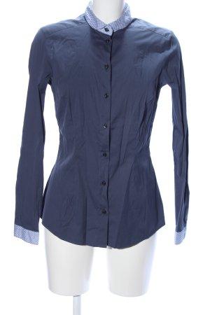 Seidensticker Langarmhemd blau Karomuster Business-Look