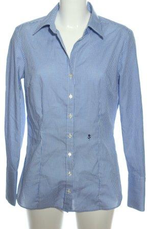 Seidensticker Langarmhemd blau-weiß Karomuster Casual-Look