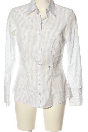 Seidensticker Langarmhemd wollweiß-schwarz Streifenmuster Business-Look