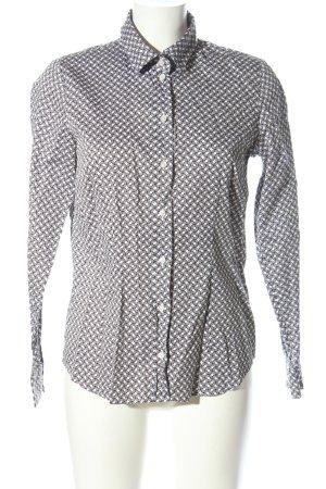 Seidensticker Langarmhemd hellgrau-weiß abstraktes Muster Business-Look