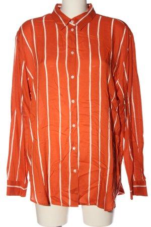 Seidensticker Langarmhemd hellorange-weiß Streifenmuster Casual-Look