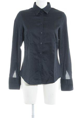 Seidensticker Langarmhemd dunkelblau Business-Look