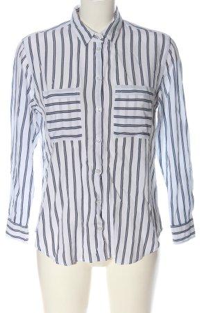 Seidensticker Langarmhemd weiß-schwarz Allover-Druck Casual-Look