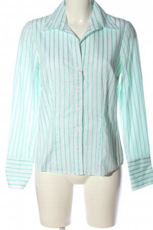 Seidensticker Langarmhemd weiß-grün Streifenmuster Business-Look