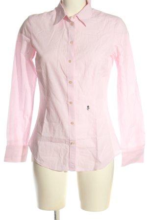 Seidensticker Langarmhemd pink-weiß Schriftzug gestickt Casual-Look