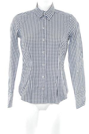 Seidensticker Langarmhemd schwarz-weiß Karomuster schlichter Stil