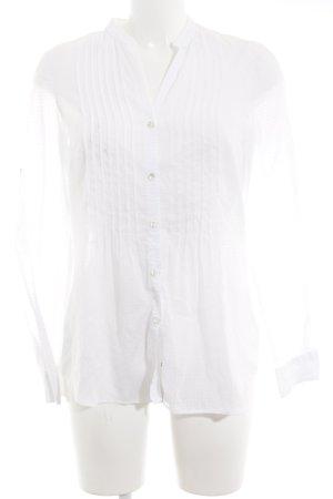 Seidensticker Camisa de manga larga blanco puro estampado a lunares look casual