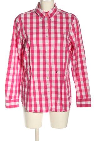 Seidensticker Langarm-Bluse pink-weiß Karomuster Business-Look