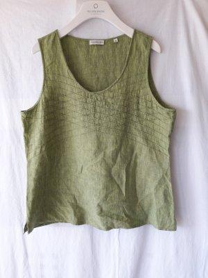 Seidensticker Leinentop Limettengrün