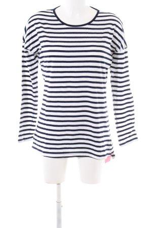 Seidensticker Ringelshirt weiß-blau Streifenmuster Casual-Look