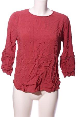 Seidensticker Camicetta con arricciature rosso stile casual