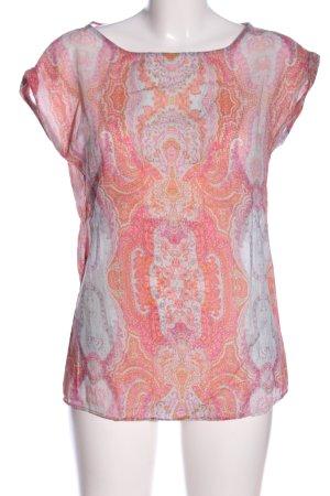 Seidensticker Schlupf-Bluse pink-hellorange abstraktes Muster Casual-Look