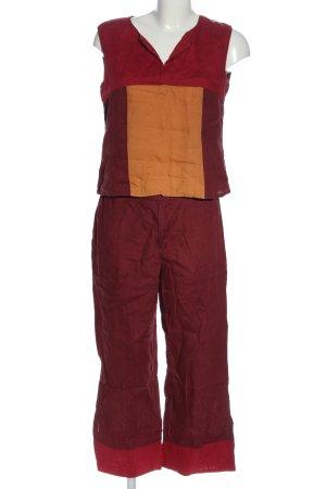 Seidensticker Ensemble en tricot rouge-orange clair style décontracté