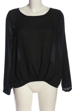 Seidensticker Transparenz-Bluse schwarz Casual-Look