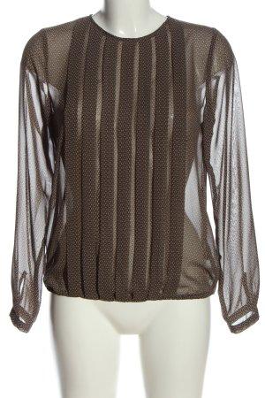 Seidensticker Transparenz-Bluse braun-nude Allover-Druck Business-Look