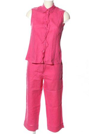 Seidensticker Web twin set roze casual uitstraling
