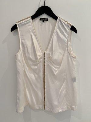 Georges Rech Top in seta bianco sporco Seta