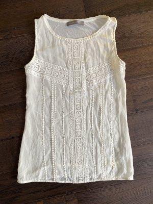 Hallhuber Camisa de mujer blanco puro
