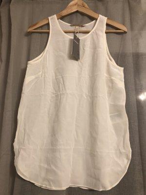 H&M Premium Haut en soie blanc-blanc cassé soie