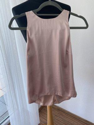 H&M Jedwabny top w kolorze różowego złota