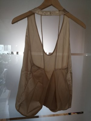 Backless Top gold-colored