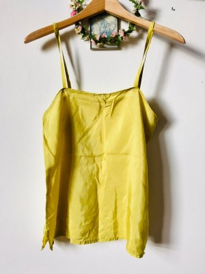 Silk Top lime yellow silk