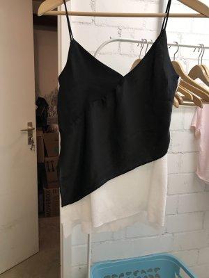 Zara Top in seta nero-bianco
