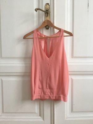 Seidentop rosa pink lachs mit wunderschönen Rückenausschnitt