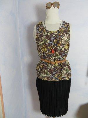 Seidentop - Seidenhemdchen - 100% Seide - Floral Print Blättermuster - Camisole