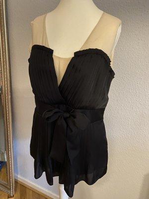 Alice by Temperley Jedwabna bluzka czarny-kremowy Jedwab