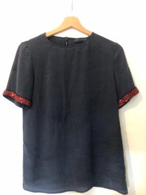 Seidentshirt dunkelblau Trussardi