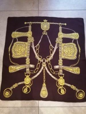 Zijden doek goud-donkerbruin