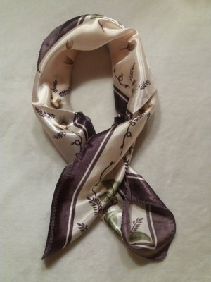 Pañoleta beige claro-violeta grisáceo