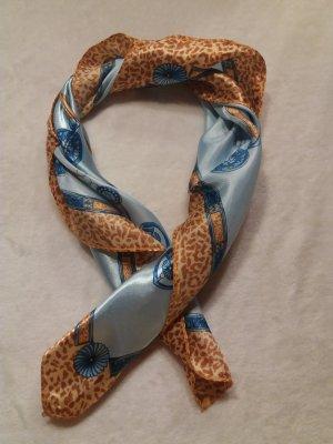 Foulard orange clair-bleu clair