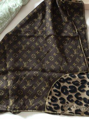 Louis Vuitton Silk Scarf brown-bronze-colored