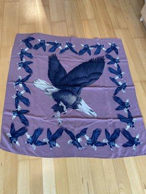 Bottega Veneta Pañuelo de seda azul-púrpura