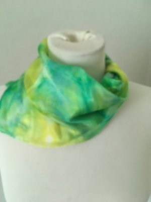 handmade Foulard en soie multicolore soie