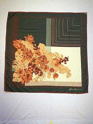 Seidentuch Gim Renoir Vintage Tuch Seide Floral Folklore