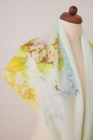 Handarbeit Silk Cloth yellow-meadow green silk