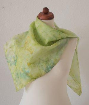 Handarbeit Silk Cloth sage green-green silk