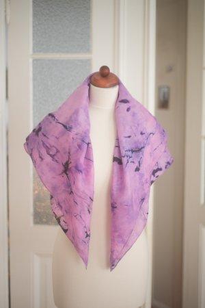 Handarbeit Silk Cloth pink-dark violet silk