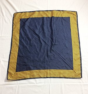 Vintage Silk Cloth dark blue-gold-colored silk